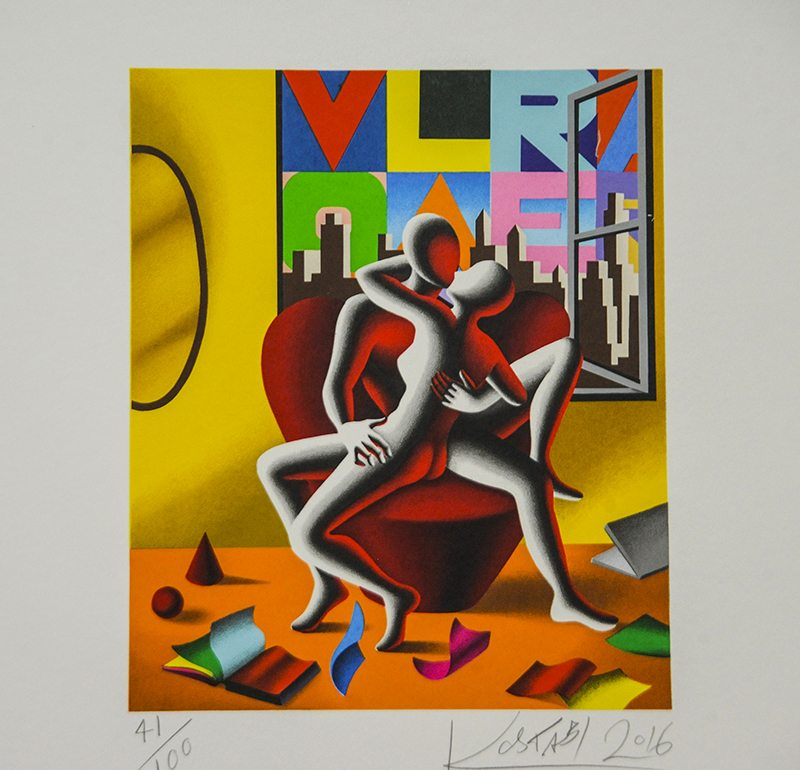 caution to the wind - kostabi